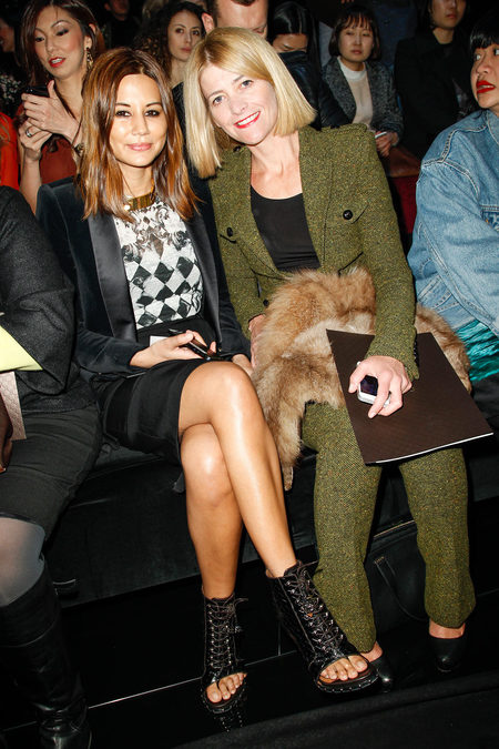 front row at gucci fall 2013