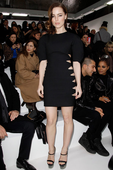 front row at versace fall 2013
