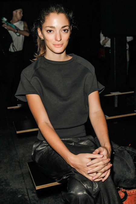 front row at Theyskens' Theory fall 2013