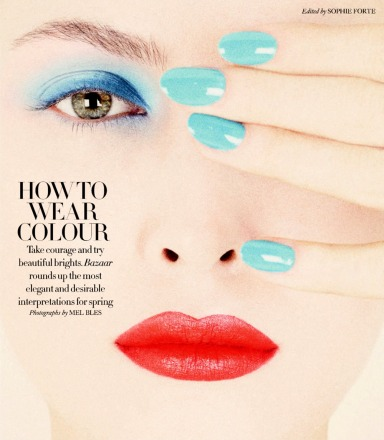 Harper's Bazaar Uk : How To Wear Colour
