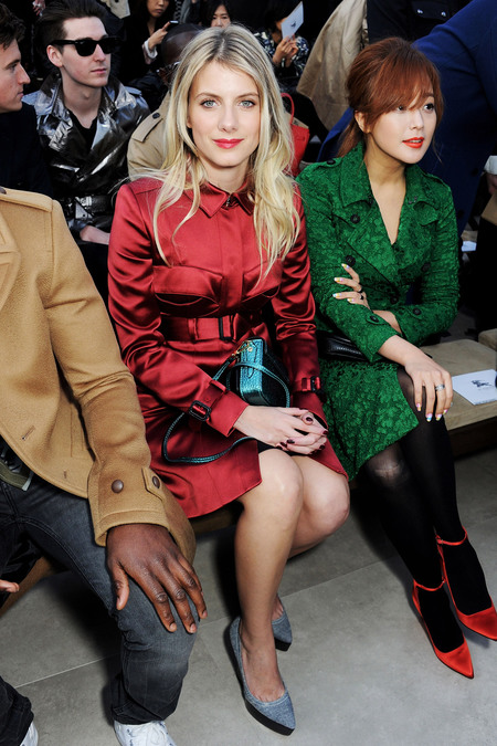 Front Row At Burberry Prorsum Fall 2013
