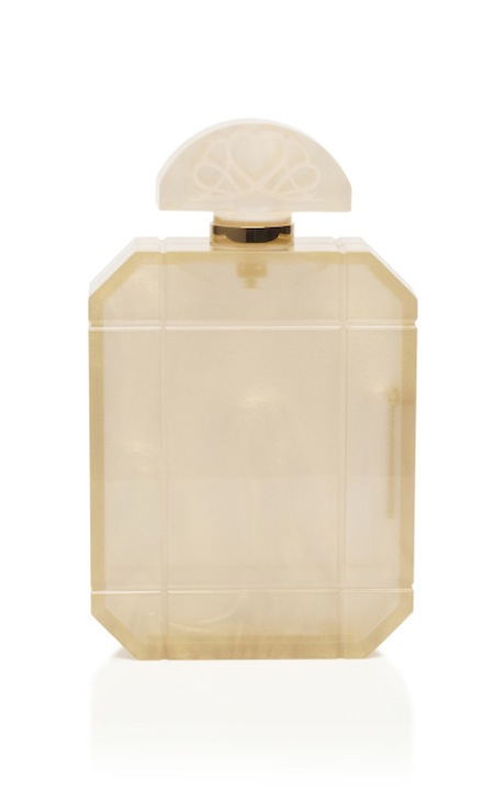 Perfume Bottle Clutch by Charlotte Olympia