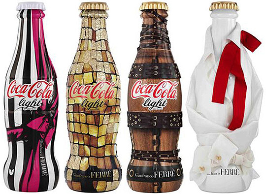 coca cola light / gianfranco ferre bottles