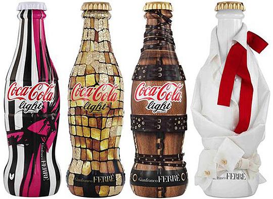 coca cola light / gianfranco ferre bottles
