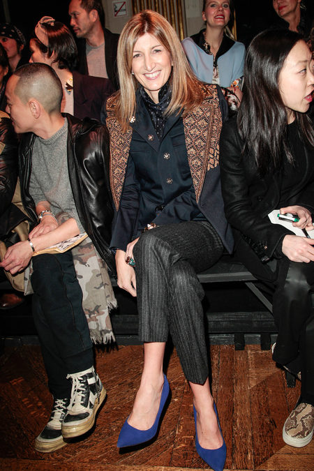 Front Row At Dries Van Noten Fall 2013