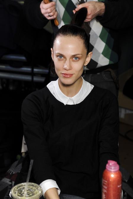 beauty look at Donna Karan's show fall 2013