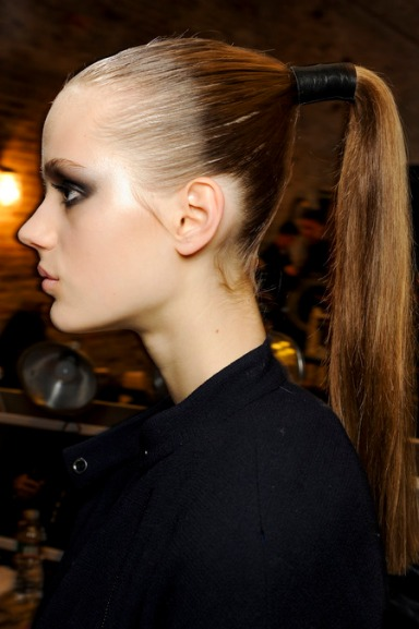 beauty look at Donna Karan's show fall 2013 karan
