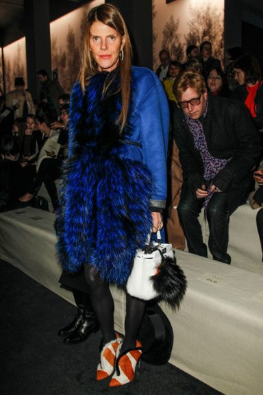 front row at marni fall 2013