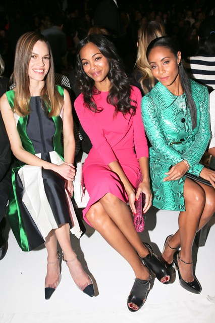 front row at nyfw fall 2013