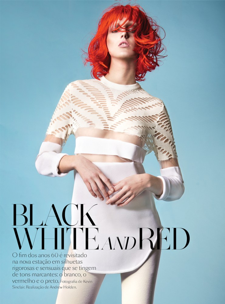 Vogue Portugal : Black,White And Red