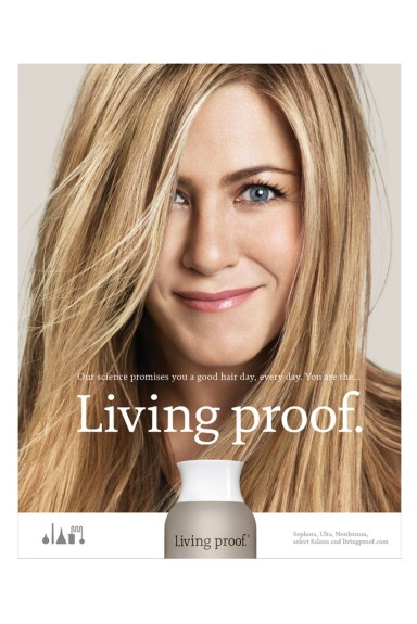 Jennifer Aniston for Living Proof.
