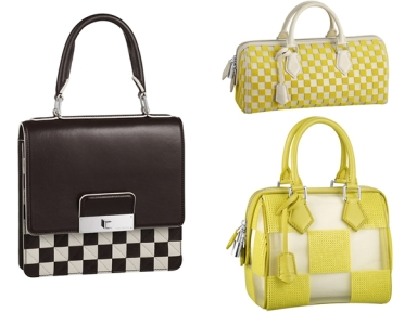 Louis Vuitton Spring/Summer 2013 Signature 'Damier' Bags Collection.