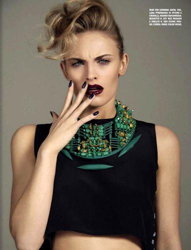 vogue italia : fashion meets beauty