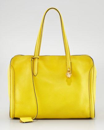 Alexander McQueen New Skull Padlock Zip-Around Tote Bag,