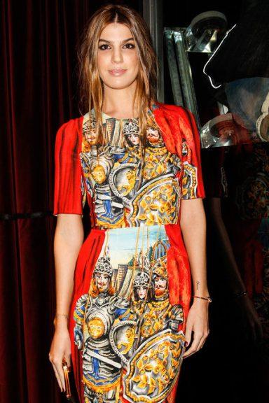 Front Row At Dolce & Gabbana Fall 2013