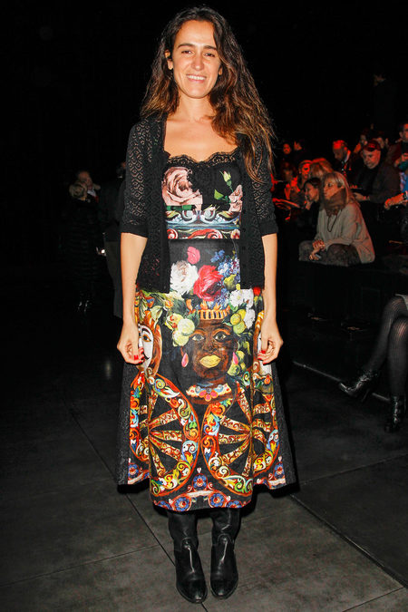 Front Row At Dolce & Gabbana Fall 2013