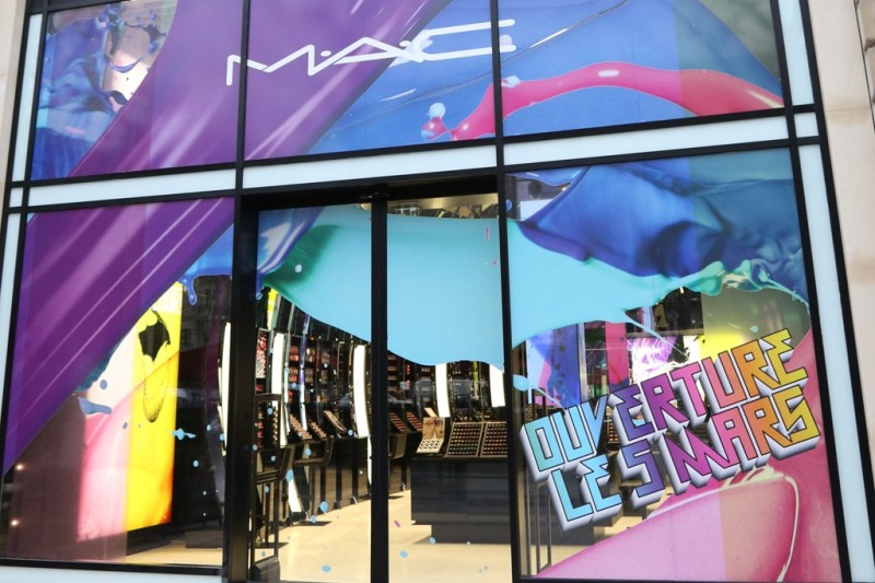 A view of the MAC Cosmetics flagship in Paris. 1