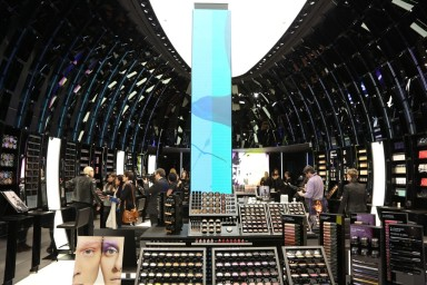 A view of the MAC Cosmetics flagship in Paris.