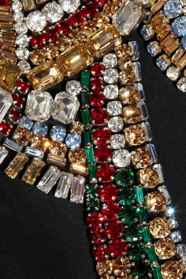 ALEXANDER MCQUEEN Swarovski crystal-embellished twill jacket-1