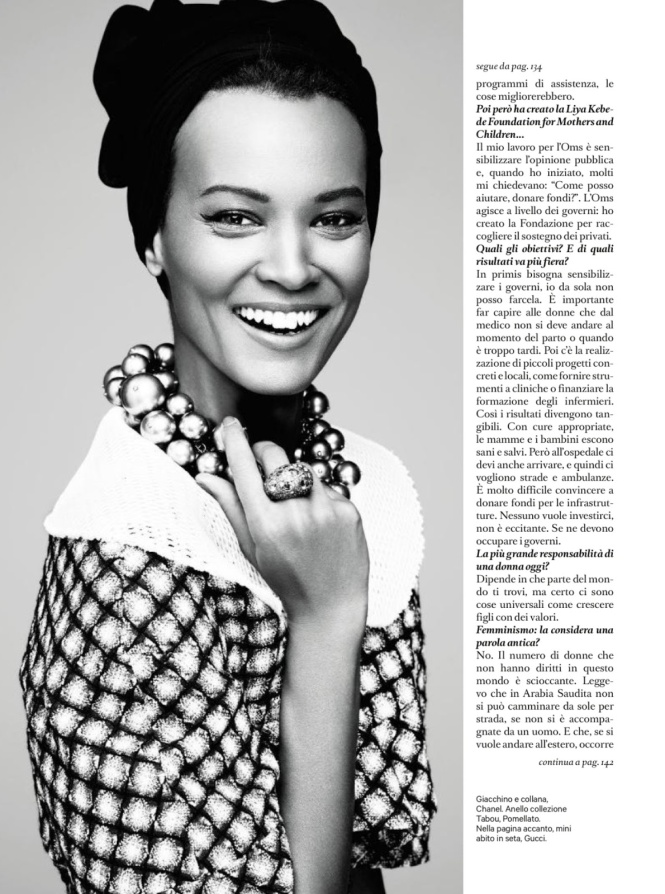 Amica Italia : Liya Kebede