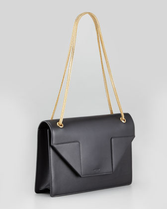 Betty Medium Chain Shoulder Bag, Black-1