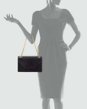 Betty Medium Chain Shoulder Bag, Black-2