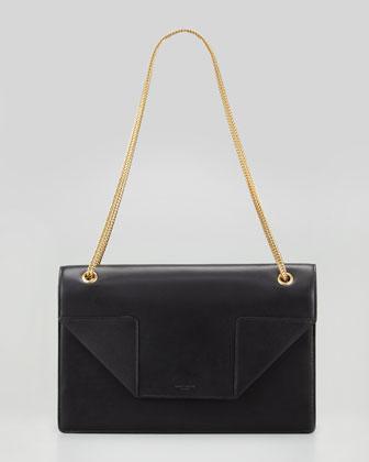 Betty Medium Chain Shoulder Bag, Black
