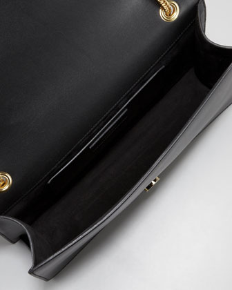 Betty Medium Studded Chain Shoulder Bag, Black -1