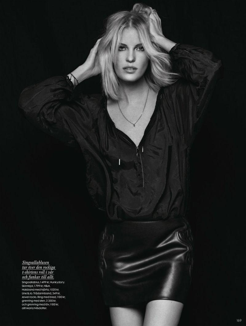 Caroline Winberg by John Scarisbrick for Elle Sweden April 2013-2