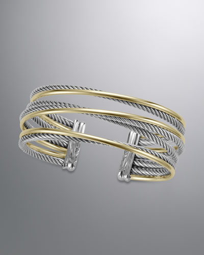 David Yurman Four-Row Crossover Bracelet