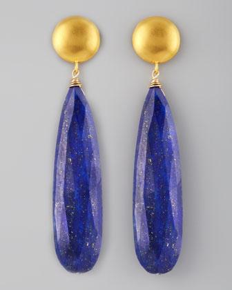 Dina Mackney Lapis Drop Earrings