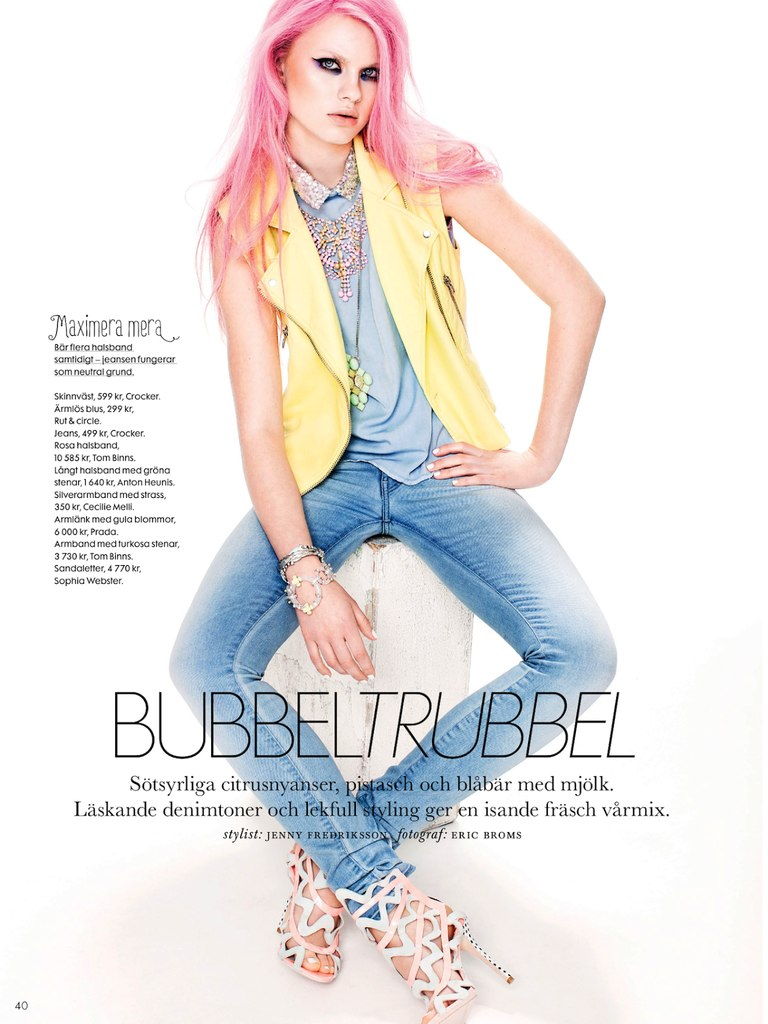 Elle Sweden : Bubble Trouble
