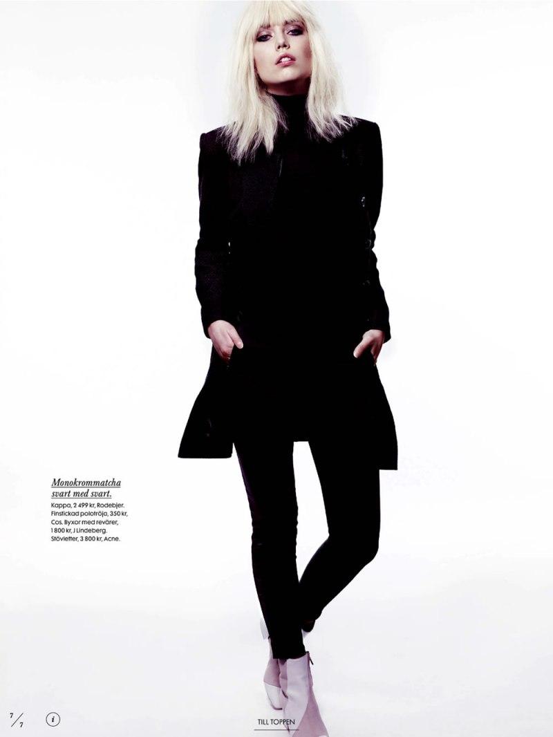 Elsa Fredriksson by Peter Gehrke for Elle Sweden April 2013-2