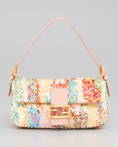 Fendi Splash Ball Sequined Baguette