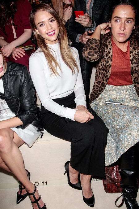 Front Row At Valentino Fall 2013