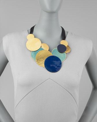 Herve Van Der Straeten Pastilles Dot Ribbon Necklace-1