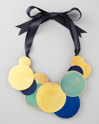 Herve Van Der Straeten Pastilles Dot Ribbon Necklace