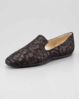 Jimmy Choo Wheel Leopard Loafer