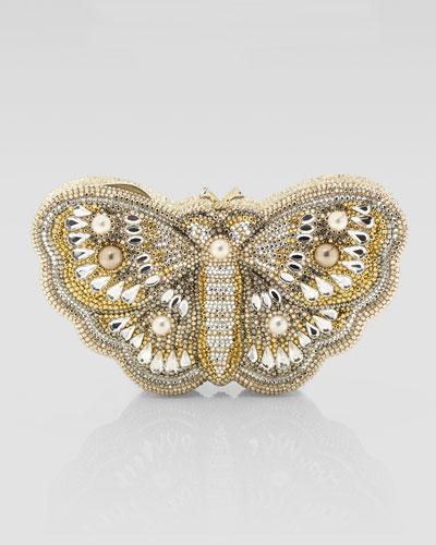 Judith Leiber Farfallina Butterfly Clutch Bag