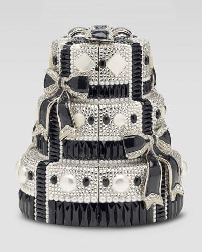 Judith Leiber Tuxedo Bows Cake Minaudiere