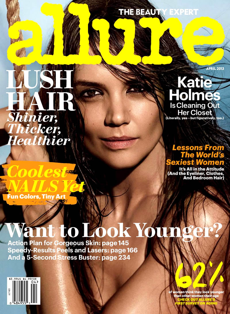 Katie Holmes for Allure Magazine's April Issue