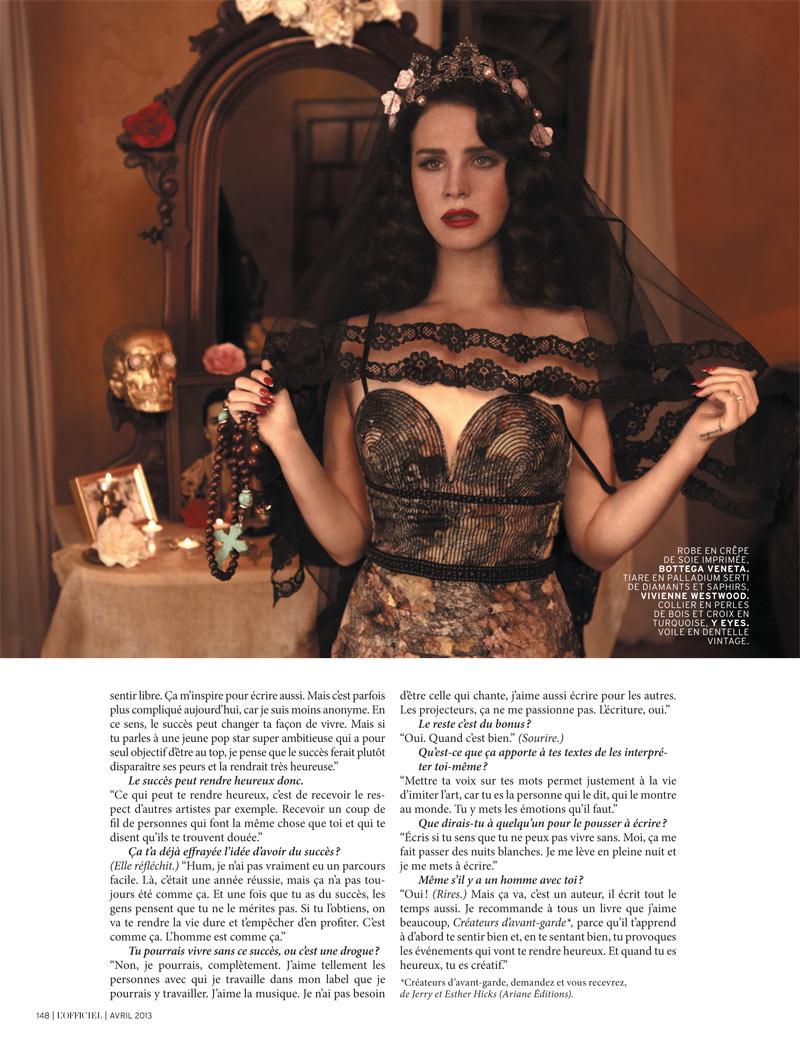 Lana Del Rey By Chris Nicholls For Fashion Magazine: Lana Del Rey Is Rosalita For L'Officiel Paris