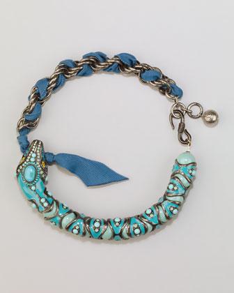 Lanvin Enamel Snake Choker Necklace,