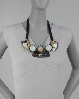 Marni Three-Stone Bib Necklace-1