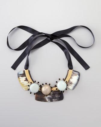 Marni Three-Stone Bib Necklace