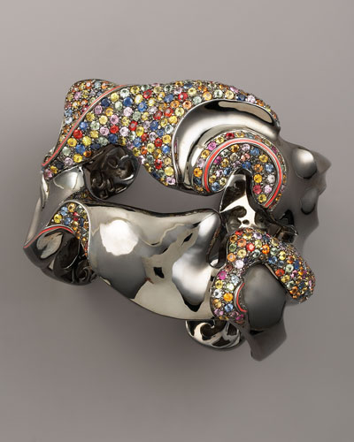 MCL by Matthew Campbell Laurenza Coral Reef Sapphire Cuff
