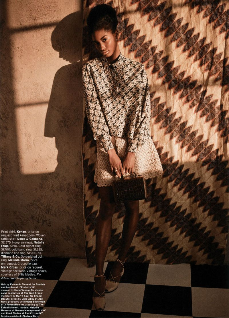 Melody Monrose by Mariano Vivanco for Elle US April 2013-9