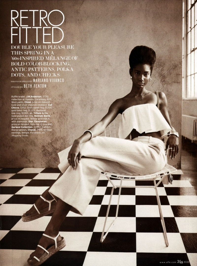 Melody Monrose by Mariano Vivanco for Elle US April 2013