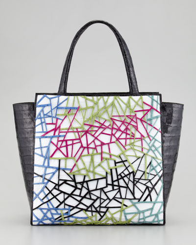 Nancy Gonzalez Cutout Pattern Crocodile Tote Bag