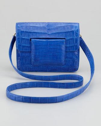 Nancy Gonzalez Front-Flap Crocodile Crossbody Bag